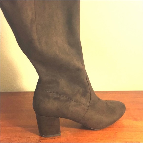 69791f44256 Lane Bryant Shoes - Lane Bryan Suede Over the Knee Boots - Wide Calf
